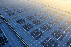 Solar Panel Texture Stock Photography