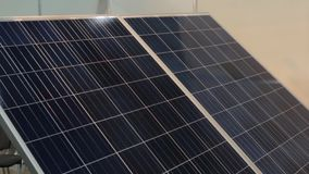 Solar panel tracking system stock video