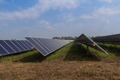 Solar panel tracking systems, Energy power in thailand.  Stock Image