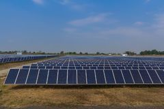 Solar panel tracking systems, Energy power in thailand.  Stock Photos