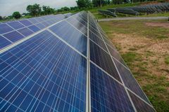 The solar panel tracking systems is very clean, solar cell in Thailand.  Royalty Free Stock Photo
