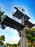 Solar panel tree in bangkok Royalty Free Stock Photos