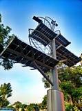 Solar panel tree in bangkok Royalty Free Stock Photos