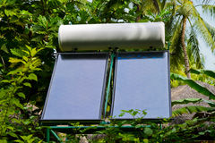 Solar panel and trees Stock Image