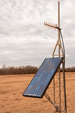 Solar Panel and UHF Antenna Stock Image