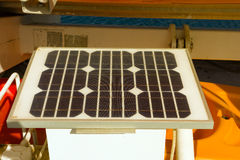 A solar panel used for emergency situations Stock Photo