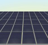 Solar panel. vector illustration. Solar panels in a row. vector illustration Royalty Free Stock Images