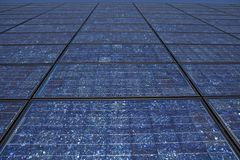 Solar Panel Wall Stock Image