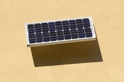 Solar panel on wall Royalty Free Stock Photo