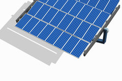 Solar Panel on White Stock Photos