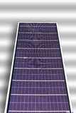 Solar panel on white background. Royalty Free Stock Image
