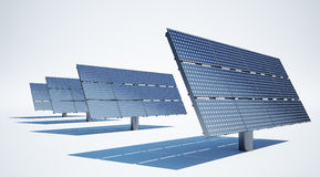 Solar panel on white background Stock Photography