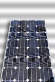 Solar panel on white background, close up. Royalty Free Stock Image