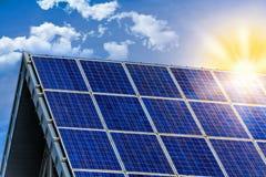 Free Solar Panel With Sun Stock Image - 128227441