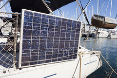 Solar panel on a yatch Stock Images