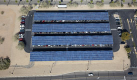 Solar Paneled covered parking Royalty Free Stock Images