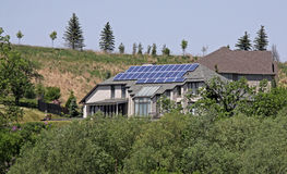 Solar Paneled Home Stock Photo