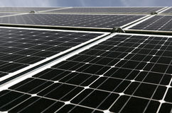 Solar Panels. And sky stock photos