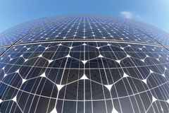 Solar panels. Photovoltaic cells in a solar panel royalty free stock images
