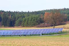 Solar panels. Some solar panels in south Bohemia, Czech republic Stock Images