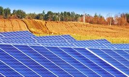 Solar panels. Some solar panels in south Bohemia, Czech republic stock photo