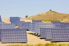 Solar panels. In Extremadura, Spain Royalty Free Stock Photos