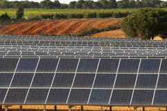 Solar panels. In the rural countryside Royalty Free Stock Images