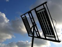 Solar Panels. Against the sky and clouds Royalty Free Stock Image