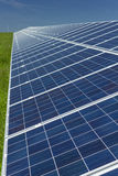 Solar Panels 2. Electric photovoltaic solar panels cells on a field Royalty Free Stock Photo
