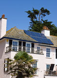 Solar Panels. Located on the roof of a house in the County of Devon, England Stock Image