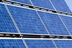 Solar panels. Field of solar cell panels stock photos