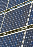 Solar panels. Field of solar cell panels royalty free stock images