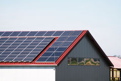 Solar panels. To generate electricity Stock Images