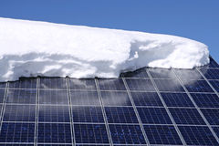 Solar Panels. With snow on it Royalty Free Stock Photography