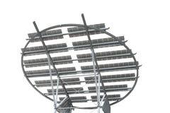 Solar panels. Futuristic looking solar panels, isolated on white Stock Image