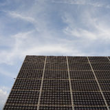 Solar panels. In the field Royalty Free Stock Photo