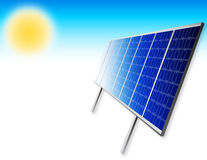 Solar panels. Illustration of solar panels with sun Stock Images