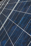 Solar Panels. A set of solar panels installed on a private residence Stock Image