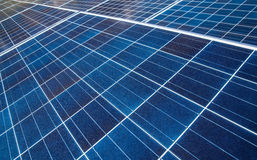 Solar Panels. Close up of an array of solar panels Royalty Free Stock Photos