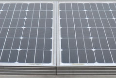Solar Panels. A photo taken on some solar panels Royalty Free Stock Image