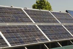 Solar Panels 3. Solar panels in an urban setting Stock Images