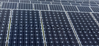 Solar panels. Some Solar panels in china Stock Photo