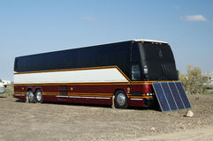 Solar Panels. Used in the desert to provide electricity for a recreational vehicle Stock Photography
