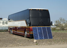 Solar Panels. Used in the desert to provide electricity for a recreational vehicle Stock Photos