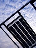 Solar Panels. Against a dramatic sky Royalty Free Stock Images