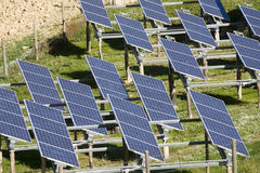 Solar panels. Installations of solar panels to create electricity Stock Photos