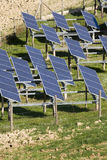 Solar panels. Installations of solar panels to create electricity Royalty Free Stock Image