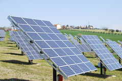 Solar panels. For renewable energy in Italy Stock Image