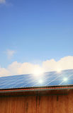 Solar panels in action Royalty Free Stock Images