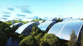 Solar panels aerial view. Wonderfull nature. Future. Realistic 4k animation. stock video